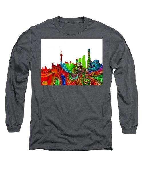 Shanghai  Long Sleeve T-Shirt by Thomas M Pikolin