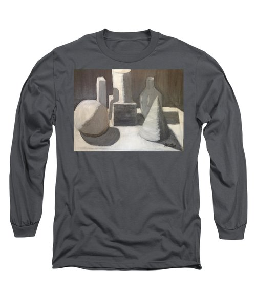 Shapes In Light And Shadow Long Sleeve T-Shirt by Joshua Maddison