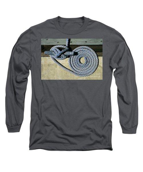 Sharon Hudson Marine Abstract - Coiled Ropes Long Sleeve T-Shirt