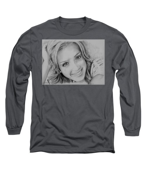 She Smiles Long Sleeve T-Shirt by Jessica Perkins