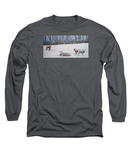 Sheep In Field Long Sleeve T-Shirt