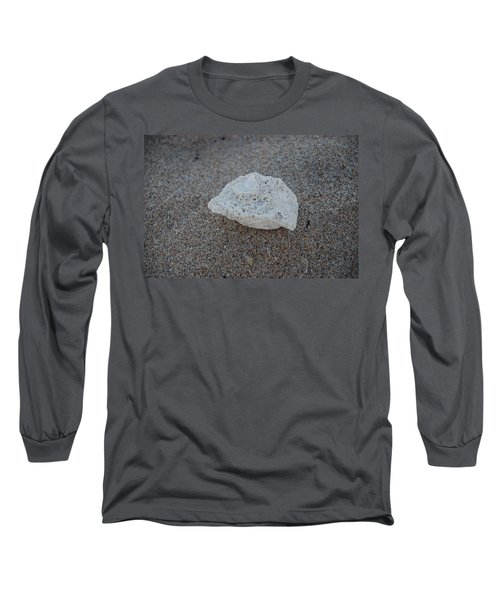 Long Sleeve T-Shirt featuring the photograph Shell And Sand by Rob Hans