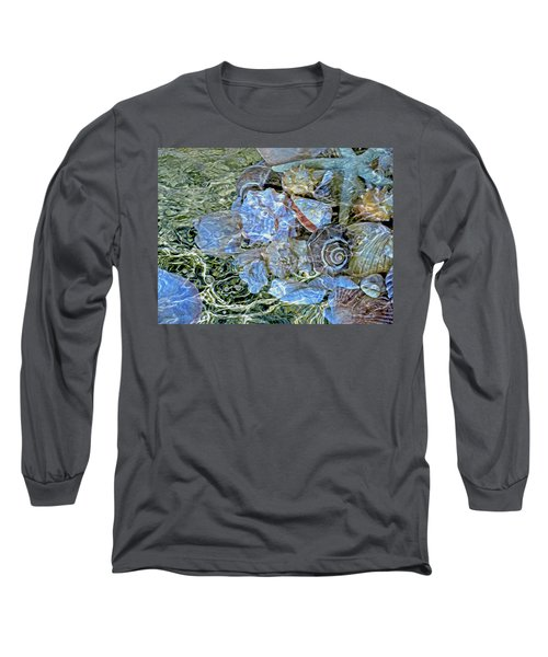Shells Underwater 20 Long Sleeve T-Shirt by Lynda Lehmann