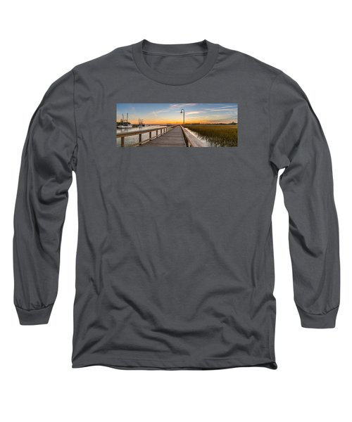 Shem Creek Pier Panoramic Long Sleeve T-Shirt