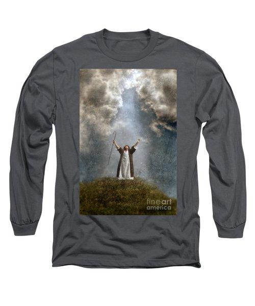 Shepherd Arms Up In Praise Long Sleeve T-Shirt
