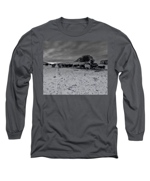 Long Sleeve T-Shirt featuring the photograph Shepherds Work by Keith Elliott