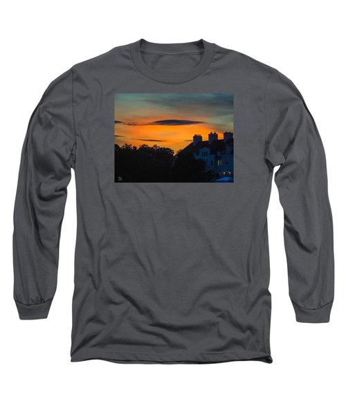 Sherbet Sky Sunset Long Sleeve T-Shirt by Glenn Feron