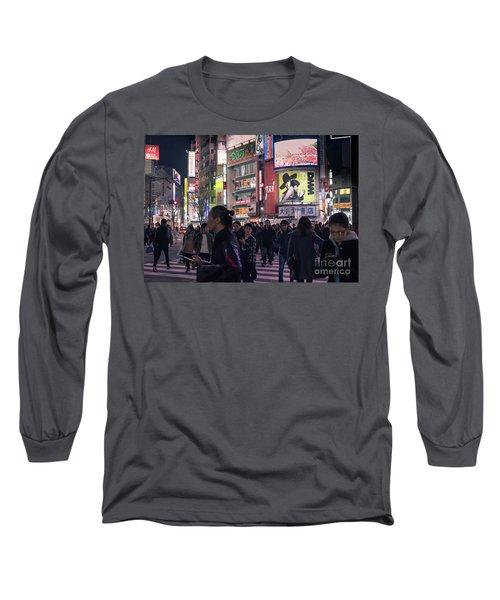 Shibuya Crossing, Tokyo Japan 3 Long Sleeve T-Shirt