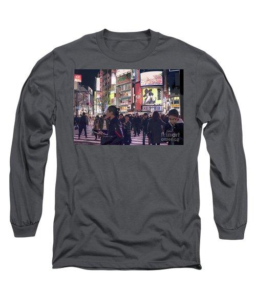 Shibuya Crossing, Tokyo Japan Poster 3 Long Sleeve T-Shirt