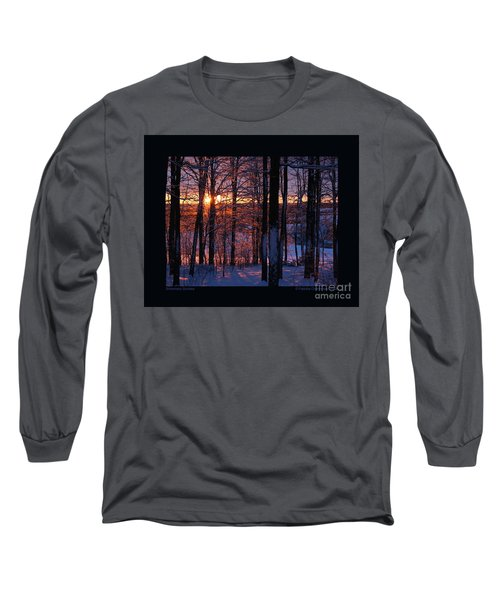 Shimmery Sunrise Long Sleeve T-Shirt by Patricia Overmoyer