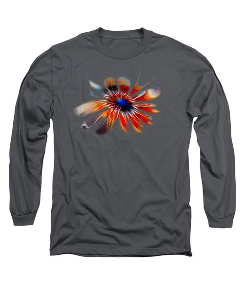 Shining Red Flower Long Sleeve T-Shirt by Anastasiya Malakhova