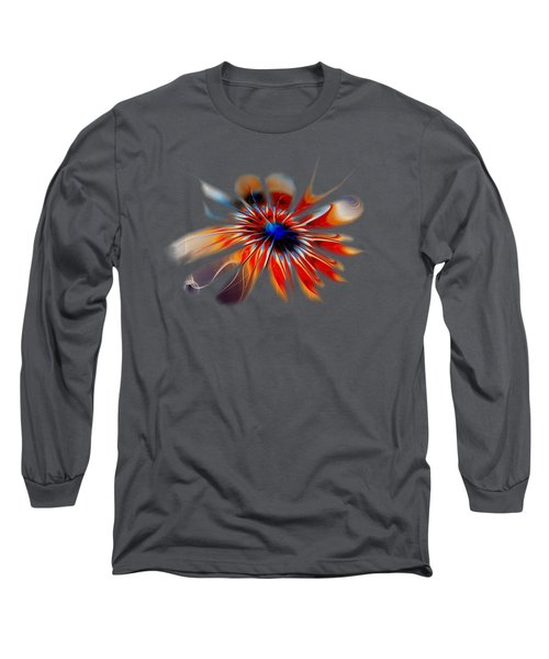 Shining Red Flower Long Sleeve T-Shirt