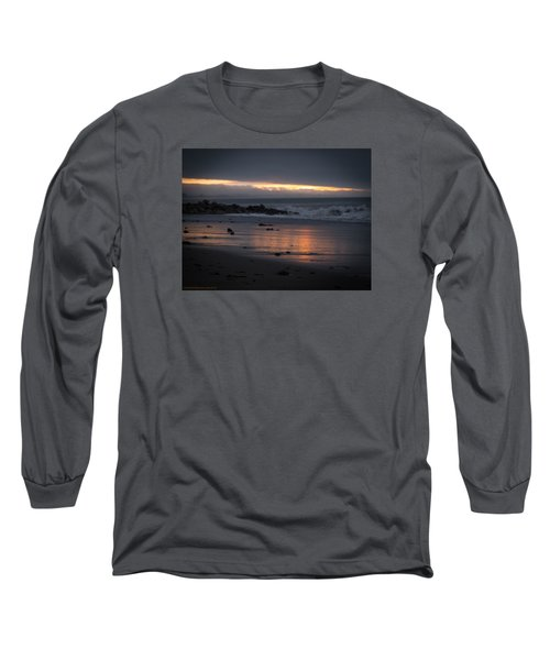 Long Sleeve T-Shirt featuring the photograph Shining Sand by Lora Lee Chapman