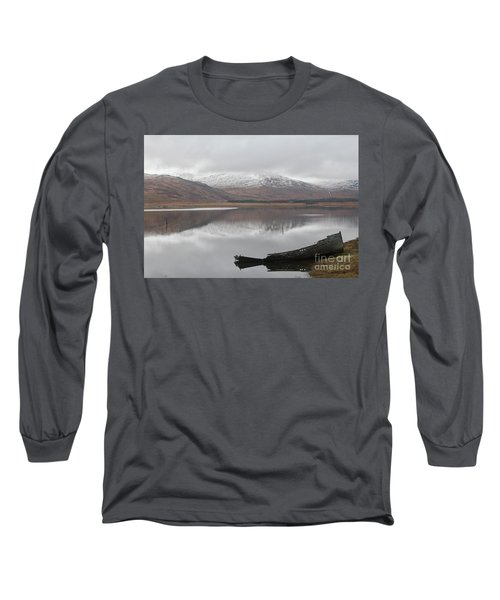 Ship Reck On Isle Of Mull Long Sleeve T-Shirt