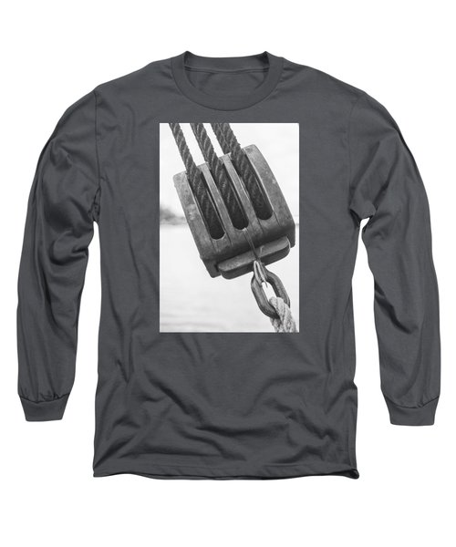 Long Sleeve T-Shirt featuring the photograph Ship Rigging by Bob Decker