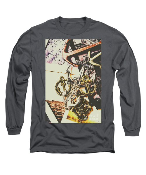 Ship Shape Maritime Icons Long Sleeve T-Shirt