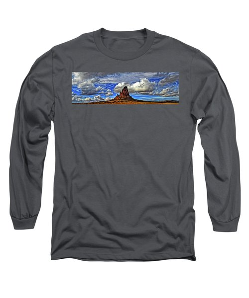 Long Sleeve T-Shirt featuring the photograph Shiprock Panorama by Scott Mahon