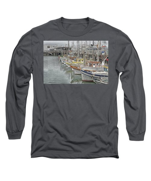 Ships In The Harbor Long Sleeve T-Shirt