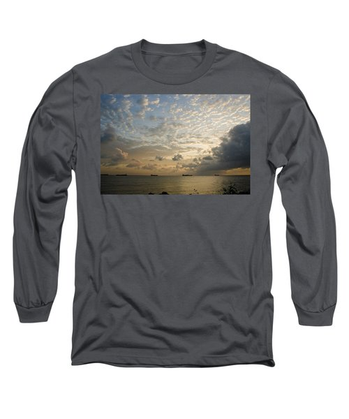 Ships In The Ship Channel.  Long Sleeve T-Shirt