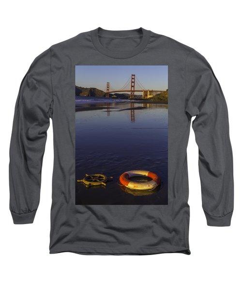 Ships Wheel And Life Ring Long Sleeve T-Shirt