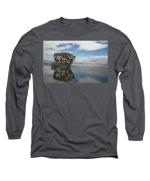 Long Sleeve T-Shirt featuring the photograph Shipwreck by Elvira Butler