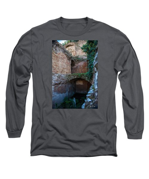 Long Sleeve T-Shirt featuring the photograph Shops Of Palatine by Ed Cilley
