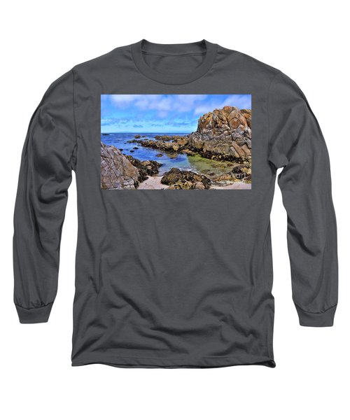 Shores Of Pacific Grove  Long Sleeve T-Shirt by Gina Savage