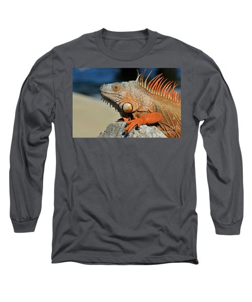 Long Sleeve T-Shirt featuring the photograph Showing My Spikes by Pamela Blizzard