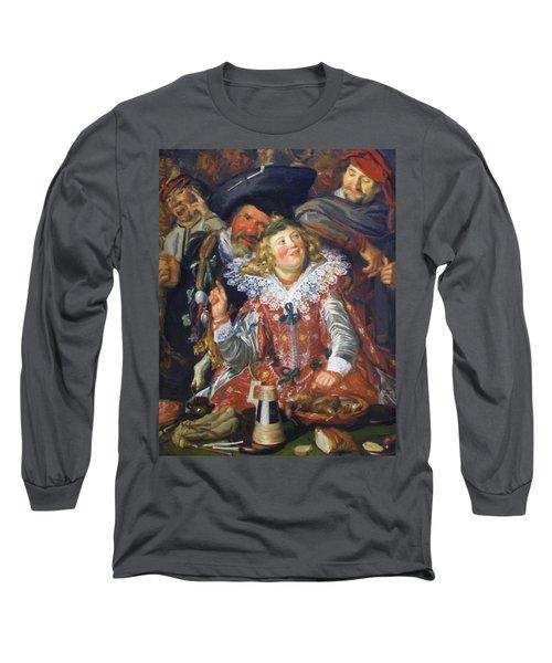 Shrovetide Revellers The Merry Company Long Sleeve T-Shirt