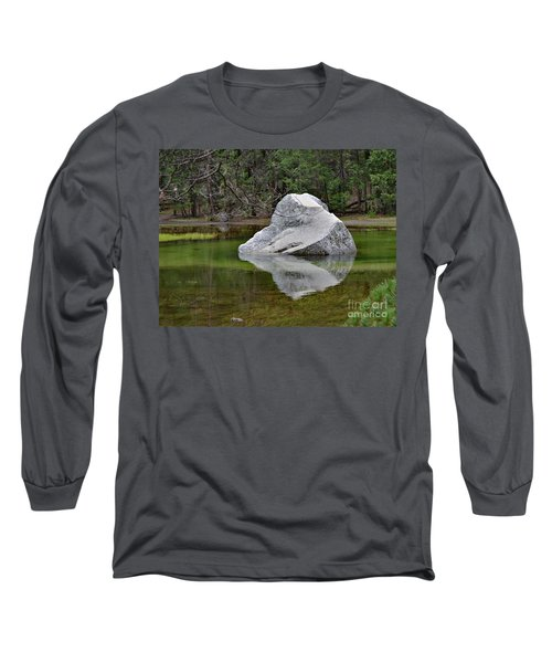 Side View Of A Rock At Mirror Lake Long Sleeve T-Shirt by Debby Pueschel