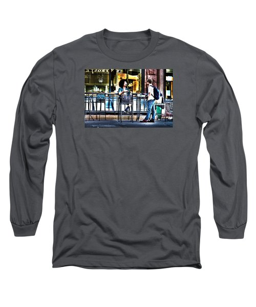 Sidewalk Cafe Patrons Long Sleeve T-Shirt
