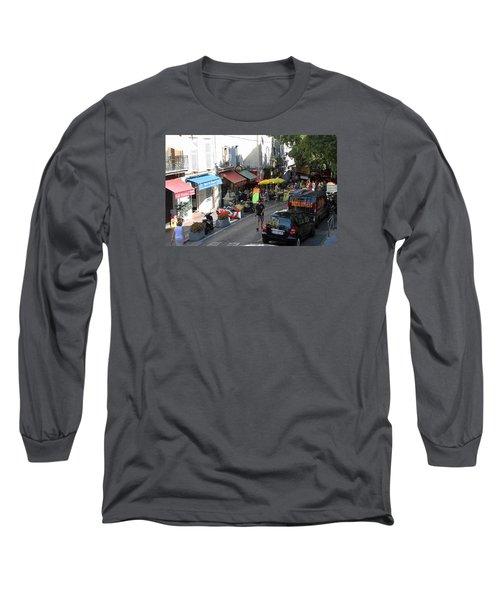 Sidewalk Cafes Long Sleeve T-Shirt by Allan Levin