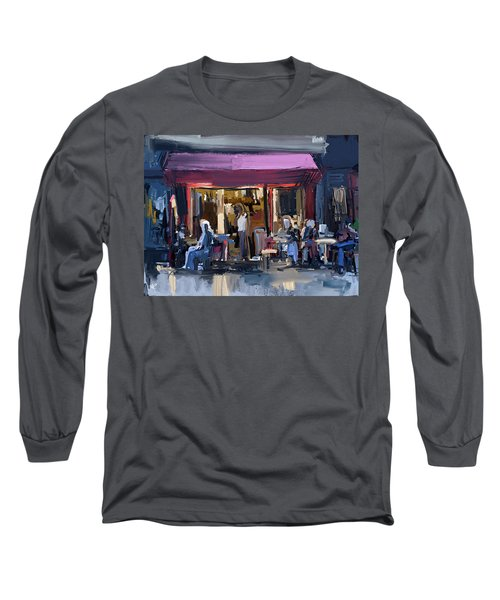 Sidewalk Scene Long Sleeve T-Shirt