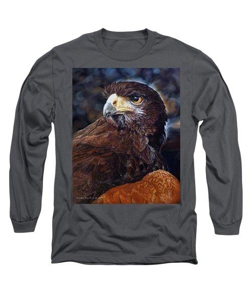 Sig The Harris Hawk Long Sleeve T-Shirt by Linda Becker