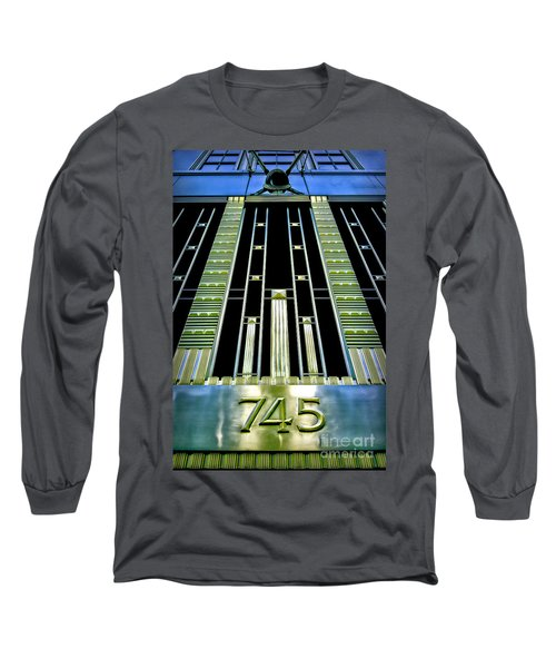 Long Sleeve T-Shirt featuring the photograph Sights In New York City - Classy Address by Walt Foegelle