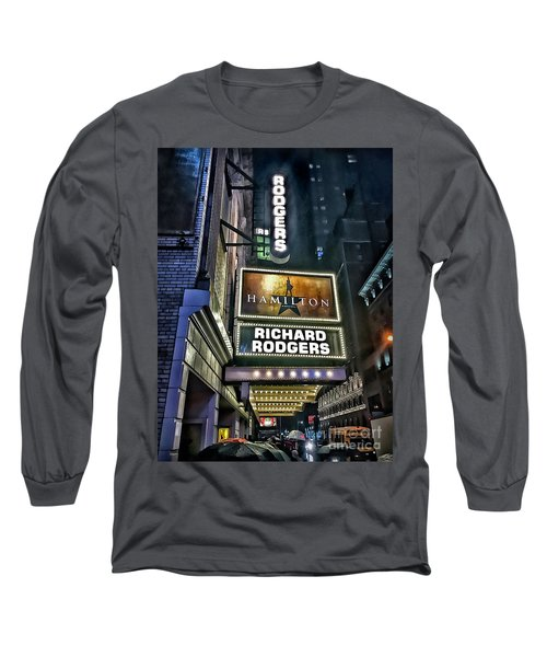 Long Sleeve T-Shirt featuring the photograph Sights In New York City - Hamilton Marquis by Walt Foegelle