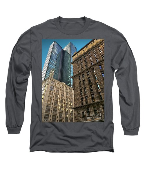 Long Sleeve T-Shirt featuring the photograph Sights In New York City - Old And New 2 by Walt Foegelle