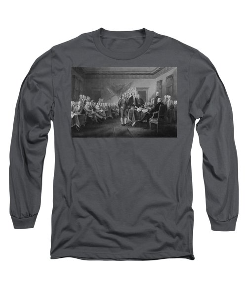 Signing The Declaration Of Independence Long Sleeve T-Shirt by War Is Hell Store