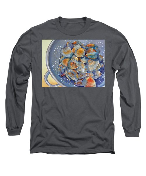 Silence Of The Clams Long Sleeve T-Shirt by Judy Mercer