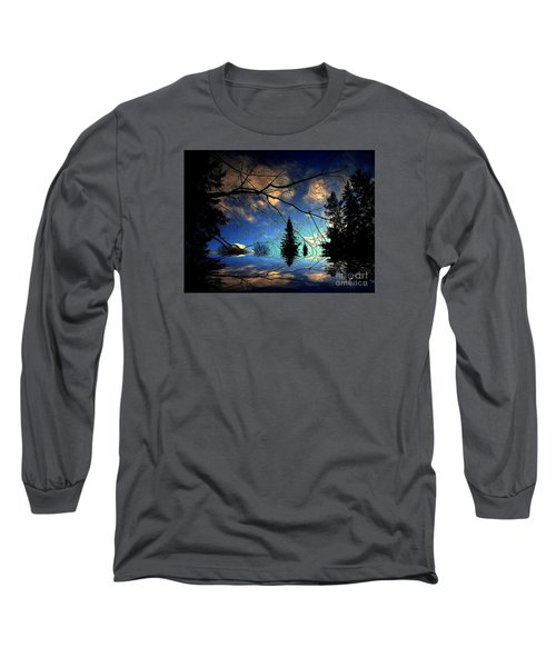 Silent Night Long Sleeve T-Shirt by Elfriede Fulda