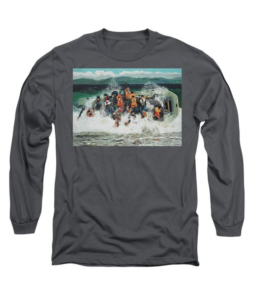 Long Sleeve T-Shirt featuring the painting Silent Screams by Eric Kempson