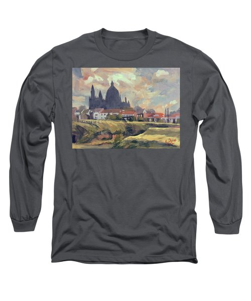 Silhouet Saint Lambertus Church Maastricht Long Sleeve T-Shirt