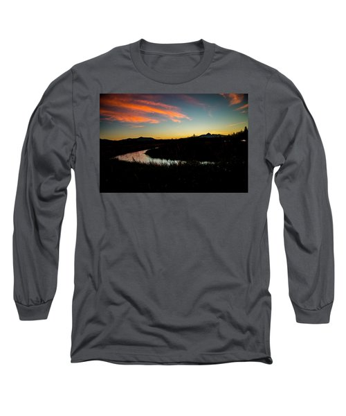 Silhouette Sunset Long Sleeve T-Shirt