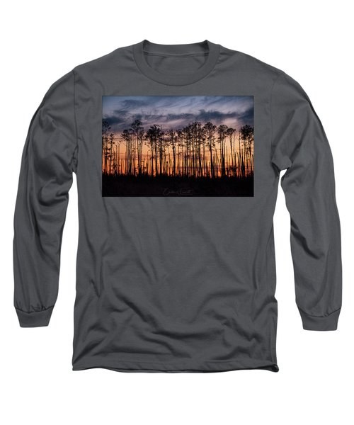Silhouetted Sunset Long Sleeve T-Shirt