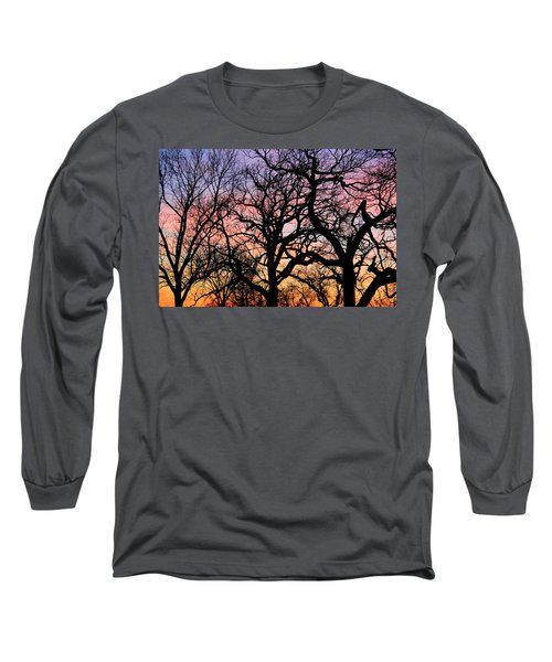 Long Sleeve T-Shirt featuring the photograph Silhouettes At Sunset by Chris Berry