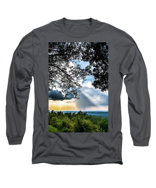 Long Sleeve T-Shirt featuring the photograph Silhouettes At The Overlook by Shelby Young