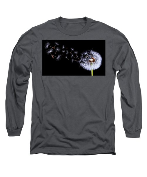 Silhouettes Of Dandelions Long Sleeve T-Shirt
