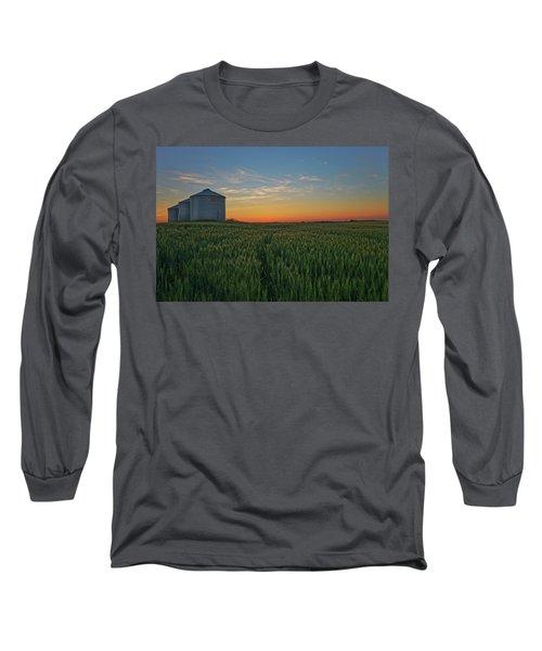 Silos At Sunset Long Sleeve T-Shirt