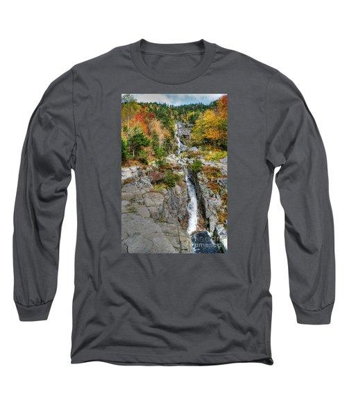 Silver Cascade Waterfall Long Sleeve T-Shirt
