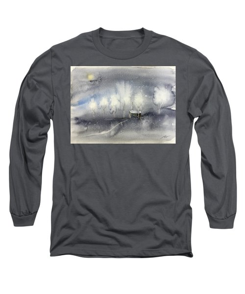 Silver Night Long Sleeve T-Shirt